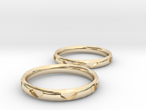 Love Bracelets in 14k Gold Plated Brass
