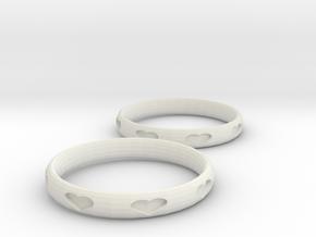 Love Bracelets in White Natural Versatile Plastic
