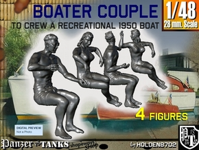 1-48 Recreation Boat Couple Set 1 in Frosted Ultra Detail