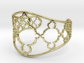 Mandelbrot Cuff in 18k Gold Plated Brass
