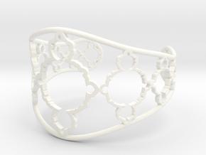 Mandelbrot Cuff in White Processed Versatile Plastic