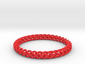 Circular Bracelet in Red Processed Versatile Plastic