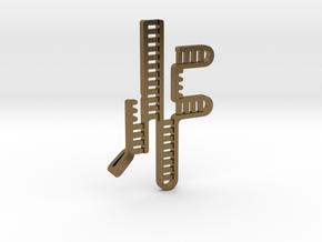 CRISPR RNA Pendant with Bail in Raw Bronze