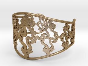 Julia Cuff in Polished Gold Steel