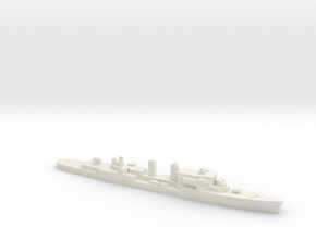 T47 Class AAW Destroyer (1962), 1/1800 in White Natural Versatile Plastic