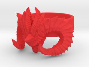 Diablo Ring Size 4 in Red Processed Versatile Plastic