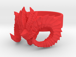 Diablo Ring Size 4,5 in Red Processed Versatile Plastic