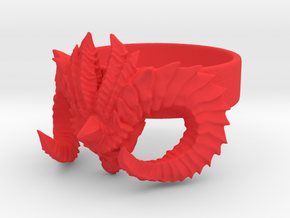 Diablo Ring Size 7 in Red Processed Versatile Plastic