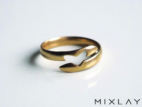 Love Between Smooth 18 in Raw Brass