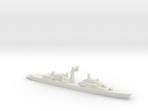 Tourville-class frigate, 1/1800 in White Natural Versatile Plastic