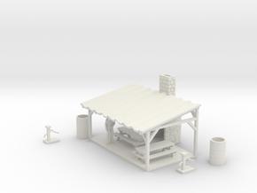 Picnic Shelter Scene - HO 87:1 Scale in White Natural Versatile Plastic