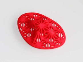 """Asanoha"", Self-Massage Tool in Red Strong & Flexible Polished"