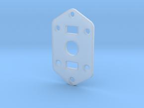Jaguar Plate - 3-way Toggle, 2 sliders in Smooth Fine Detail Plastic