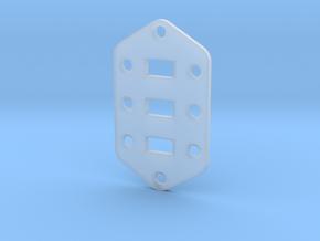Jaguar Plate - Standard Configuration in Smooth Fine Detail Plastic