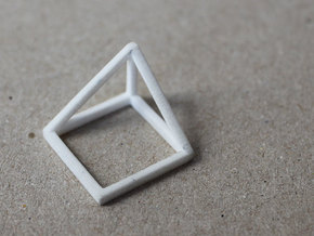 CUBE - ring or pendant - 1P in White Strong & Flexible