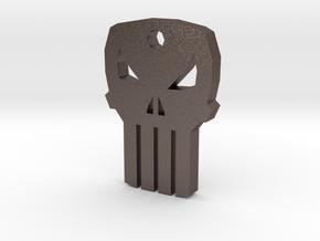 Punisher Keychain in Polished Bronzed Silver Steel