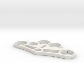 Triple Tree Clamp 1 in White Natural Versatile Plastic