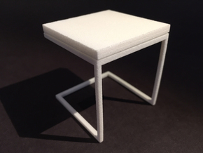 End Table 1-12 in White Natural Versatile Plastic