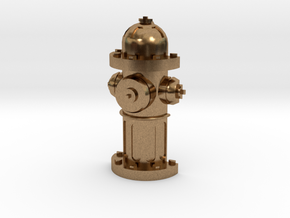 Fire Hydrant Pet Tag / Pendant in Natural Brass