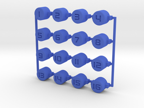 Numbered buttons in Blue Processed Versatile Plastic