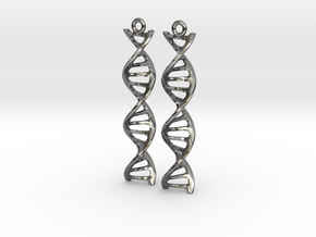 DNA Earrings in Polished Silver