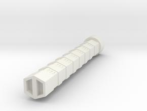 15mm Plasma Cannon in White Natural Versatile Plastic