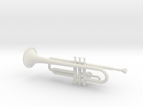 Trumpet in White Natural Versatile Plastic