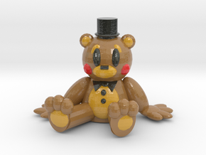 Toy Freddy Chibi in Glossy Full Color Sandstone