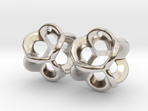 Clover Frame Pair in Rhodium Plated Brass