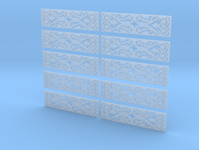 1/35 Gingerbread 2 - Set of 10 in Smooth Fine Detail Plastic