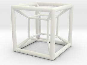 Tesseract in White Natural Versatile Plastic