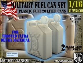 1-16 Military FUEL Can FUD SET1 in Smooth Fine Detail Plastic