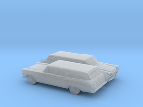 1/160 2X  1957 Dodge Royal Station Wagon in Smooth Fine Detail Plastic