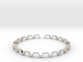 BETTER HALF Bracelet, Medium Size d=65mm in Platinum: Small
