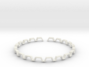 BETTER HALF Bracelet, Medium Size d=65mm in White Natural Versatile Plastic: Small