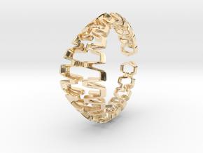 HD Bracelet, Medium Size, d=65. Strong, Bold, Uniq in 14k Gold Plated Brass: Medium