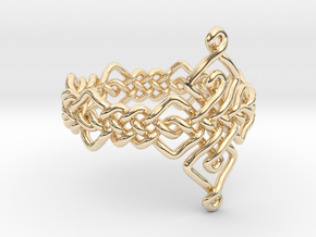 Celtic Ring - Size 9 in 14k Gold Plated Brass