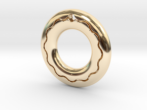 Pendant03-wave in 14K Yellow Gold