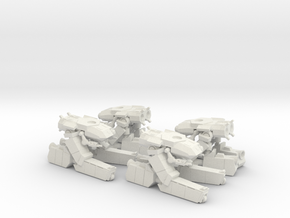 285th Standing Centaur platoon in White Natural Versatile Plastic