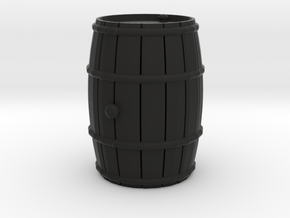 Wooden Barrel Wine Rundlet in Black Natural Versatile Plastic