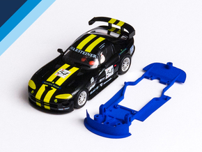 1/32 Fly Dodge Viper GTS-R Chassis for slot.it pod in Blue Processed Versatile Plastic