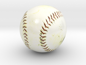 The Baseball-mini-ver.2.0 in Glossy Full Color Sandstone