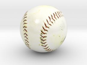 The Baseball-mini-ver.2.0 in Glossy Full Color Sandstone