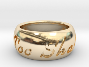 This Too Shall Pass ring size 6.5 in 14K Yellow Gold