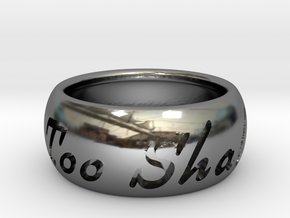 This Too Shall Pass ring size 7.5 in Fine Detail Polished Silver