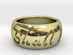 This Too Shall Pass ring size 5 in 18k Gold Plated Brass