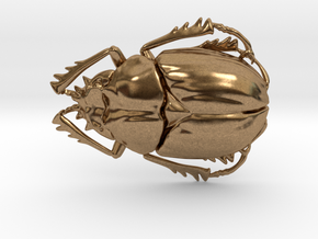 Scarab Beetle in Natural Brass