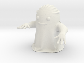 Friendly Ghost in White Natural Versatile Plastic