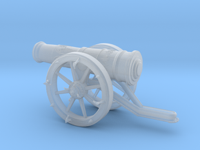3D Cannon  in Smooth Fine Detail Plastic