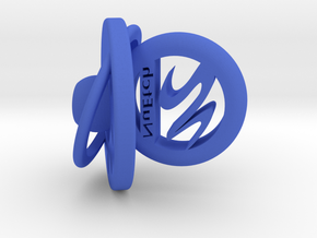 NuEtch Desktop Logo in Blue Processed Versatile Plastic